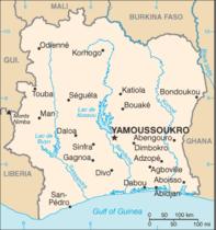 kart over elfenbenskysten elfenbenskysten   Revolusjon kart over elfenbenskysten